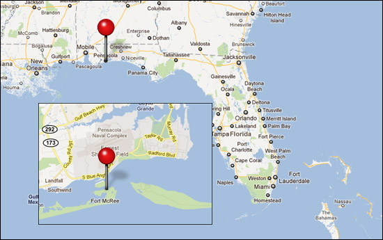 Picture of our location in Florida