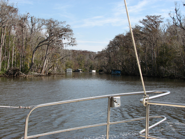 Entering Lake Wimico