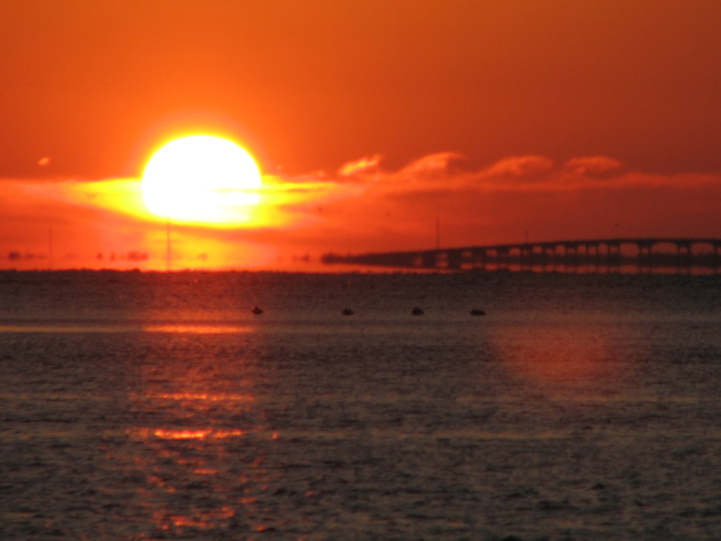 Sunrise over Apalachicola