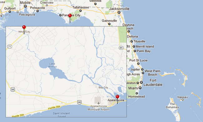 White City to Apalachicola