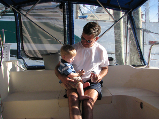 Uncle Conrad teaching Caiden about women, sailing and beer.