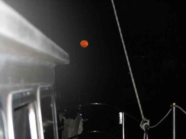 Super moon shining over Boot Key Harbor